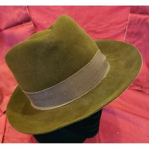 Vintage David Cohen Brown Fedora with Wide Ribbon